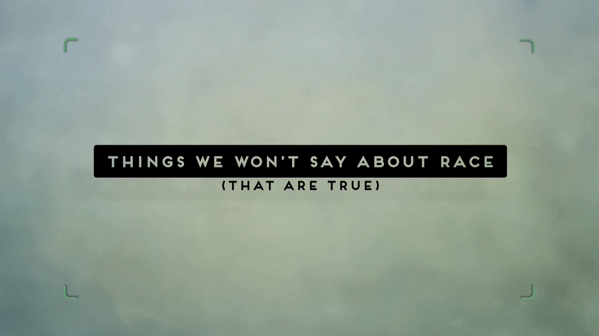 Things We Won't Say About Race – That Are True